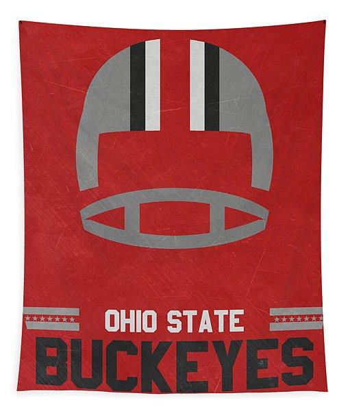 Ohio State Buckeyes Vintage Football Art Tapestry