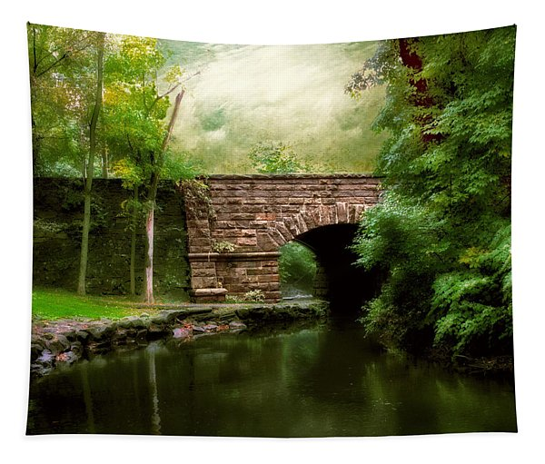 Old Country Bridge Tapestry