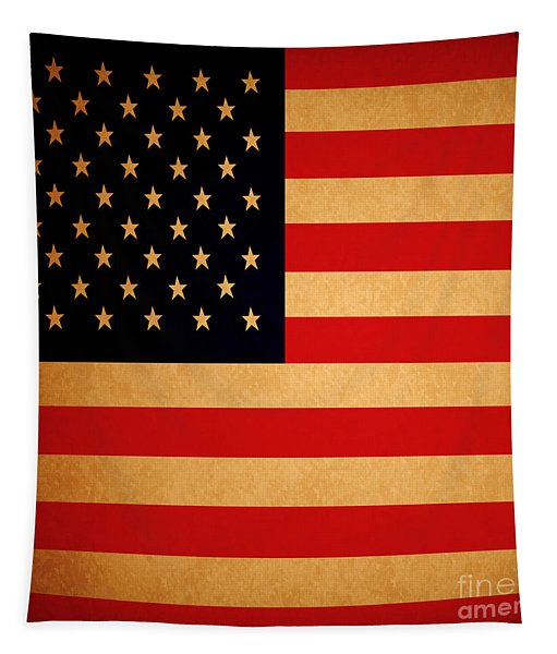Old Glory . Square Tapestry