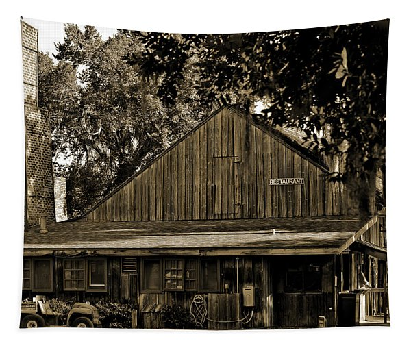 Old Spanish Sugar Mill Sepia Tapestry