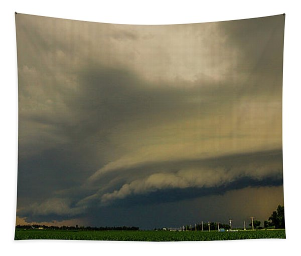 Tapestry featuring the photograph Ominous Nebraska Outflow 007 by NebraskaSC