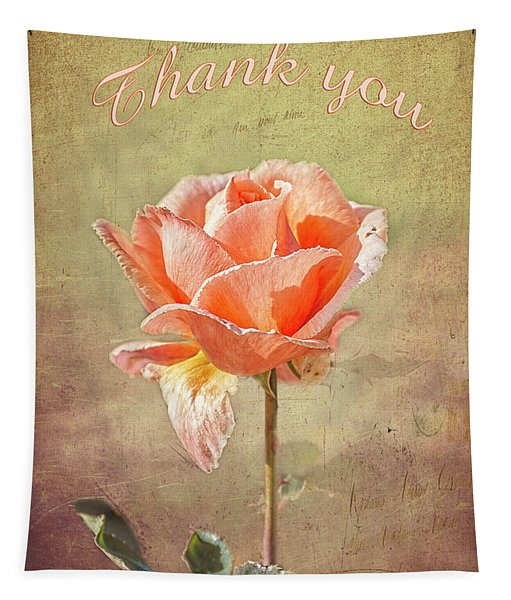 Orange Rose Tapestry