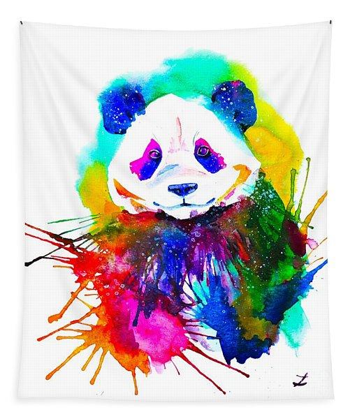 Panda Splash Tapestry