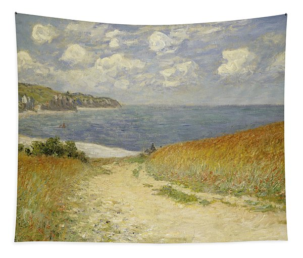 Path In The Wheat At Pourville Tapestry