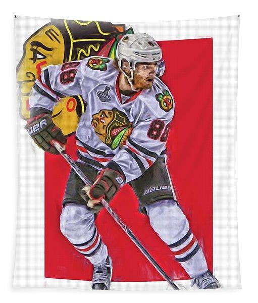 Patrick Kane Chicago Blackhawks Oil Art Series 2 Tapestry