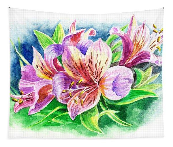 Peruvian Princess Lily Tapestry