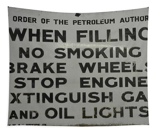 Petrol Sign Tapestry