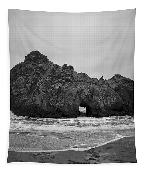 Pfeiffer Beach II Bw Tapestry