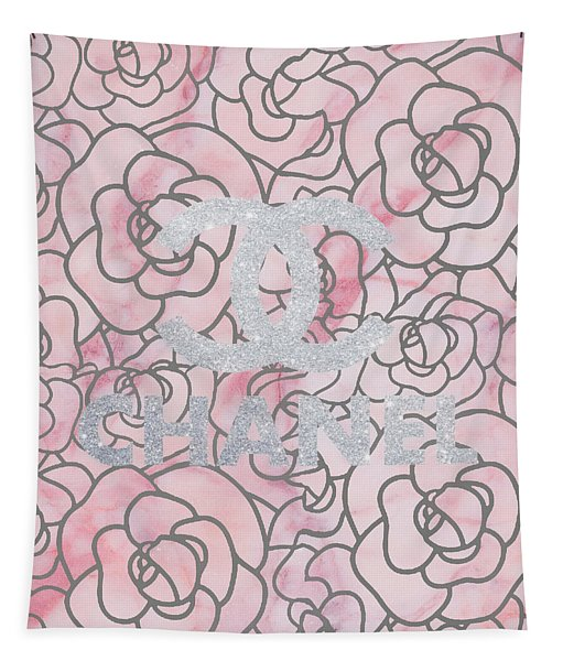 Pink Marble Chanel Tapestry