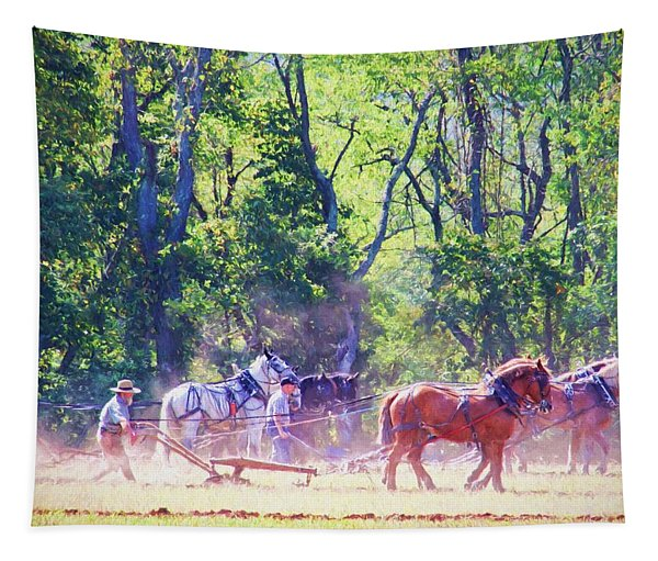 Plowing Competition Tapestry