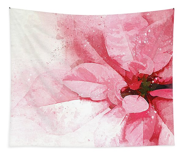 Poinsettia Abstract Tapestry