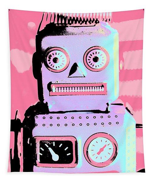 Pop Art Poster Robot Tapestry