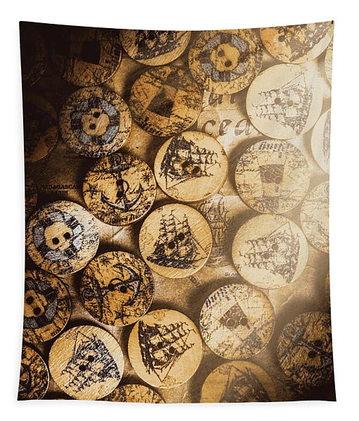 Port Of Corks At The Old Sail Tavern Tapestry