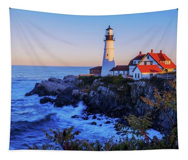 Portland Head Light II Tapestry