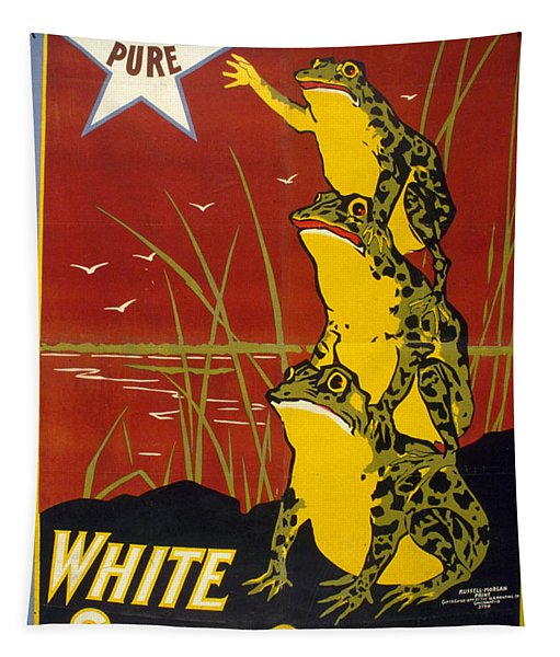 Pure White Star Coffee - Vintage Advertising Poster Tapestry