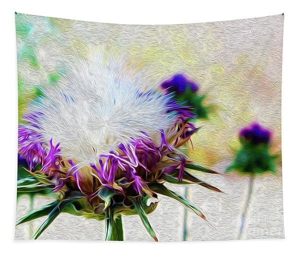 Purple Chaparral  Tapestry