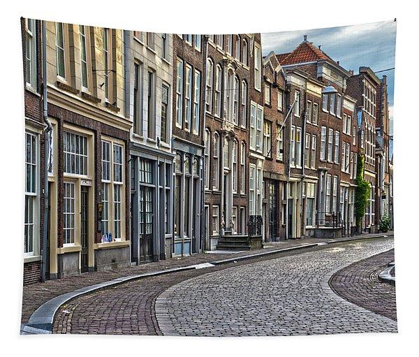 Quiet Street In Dordrecht Tapestry