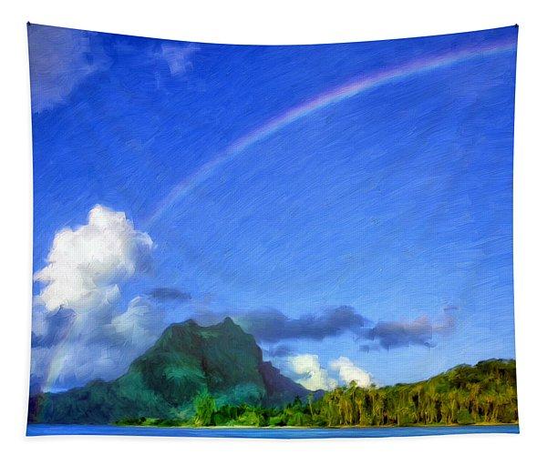 Rainbow Over Bora Bora Tapestry