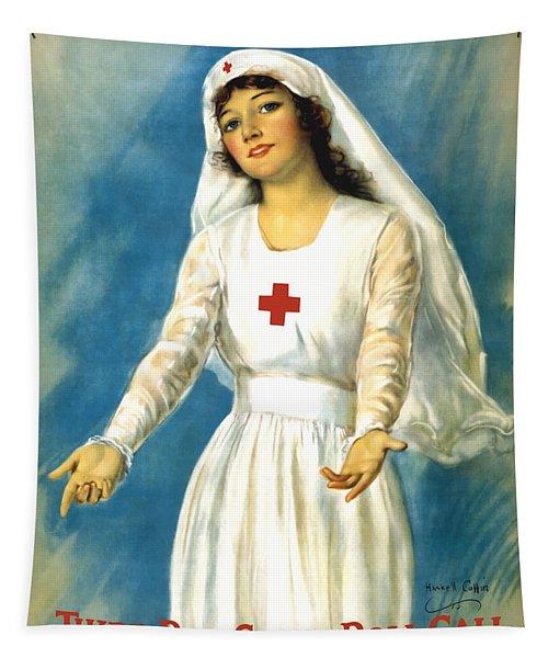 Red Cross Nurse - Ww1 Tapestry