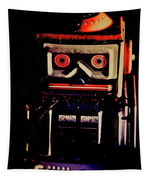Retro Mechanical Robotics Tapestry