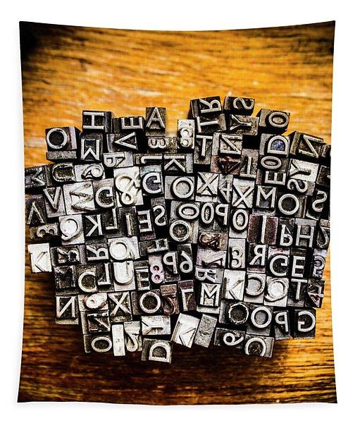 Retro Typesetting In Print Tapestry