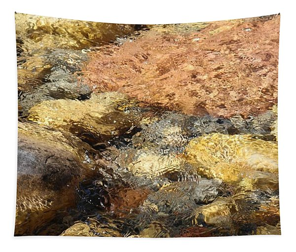 Tapestry featuring the photograph Rocks Through The Water  by Christy Pooschke