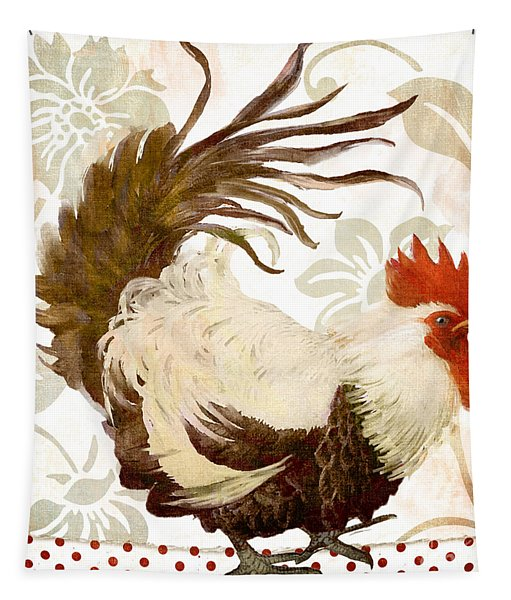 Rooster Damask Light Tapestry