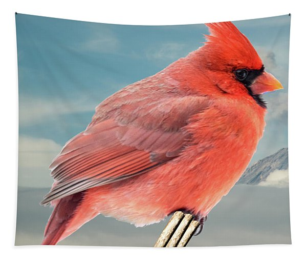 Rosy Cardinal Tapestry