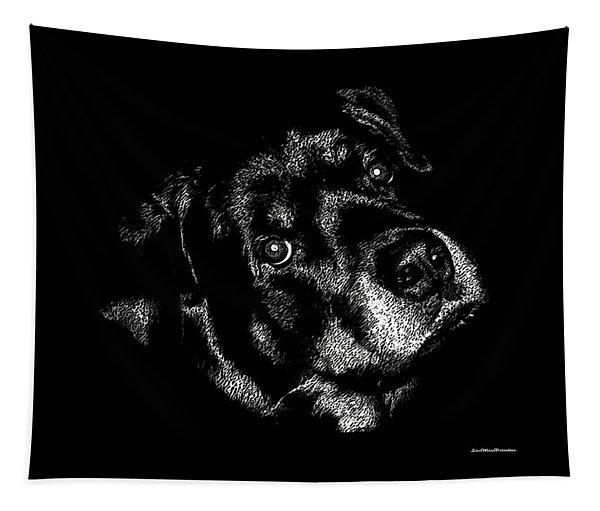 Rottweiler Mozart Portrait Tapestry