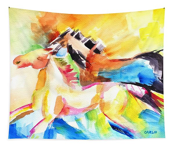 Running Horses Color Tapestry