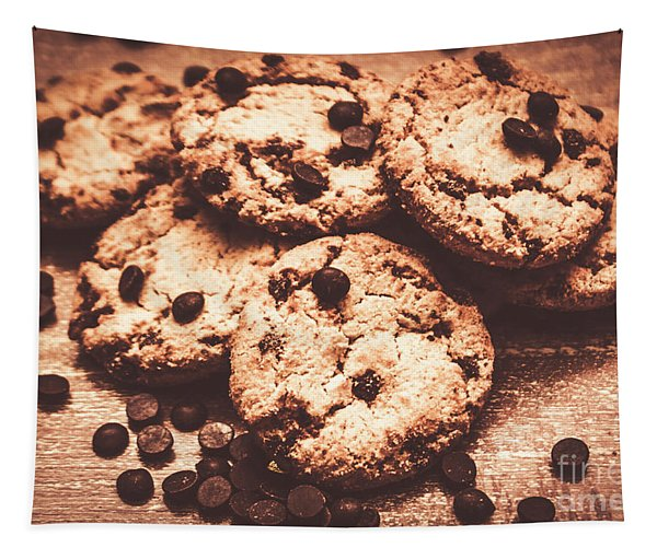 Rustic Kitchen Cookie Art Tapestry