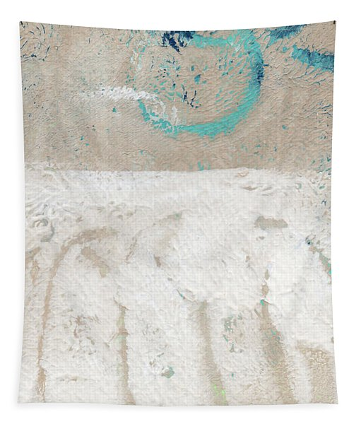 Sandcastles- Abstract Painting Tapestry