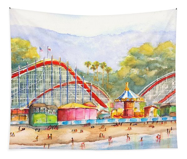 Santa Cruz Beach Boardwalk Tapestry