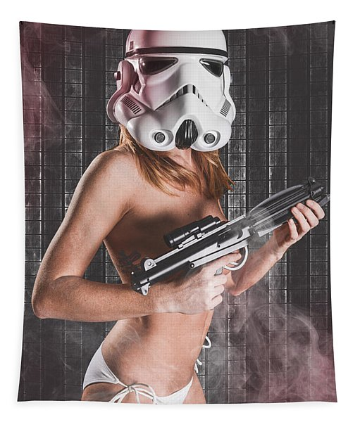 Sexy Red Head Trooper Tapestry