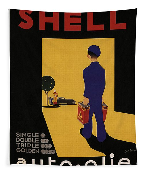 Shell Auto Olie - Vintage Advertising Poster Tapestry