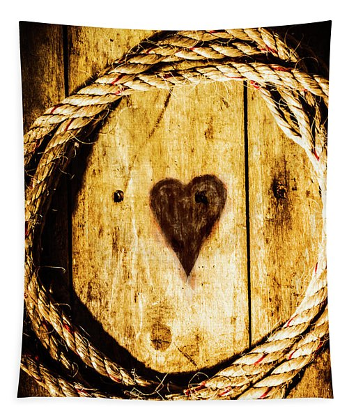 Ship Shape Heart Tapestry