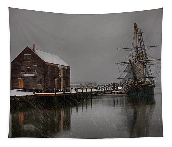 Silently The Snow Falls. Tapestry
