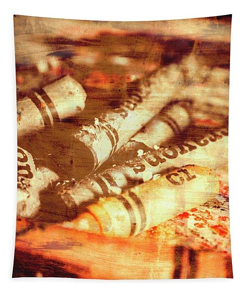Sketchy Old Fine Art Palette Tapestry