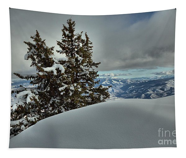 Snow Drifts And Mountains Tapestry