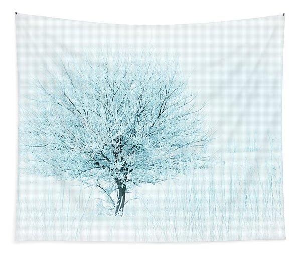 Snow Field Tree Tapestry