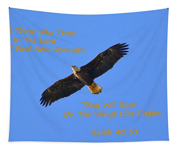 Soar On The Wings Like Eagles Isaiah 40 31  Tapestry