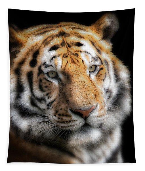 Soft Tiger Portrait Tapestry