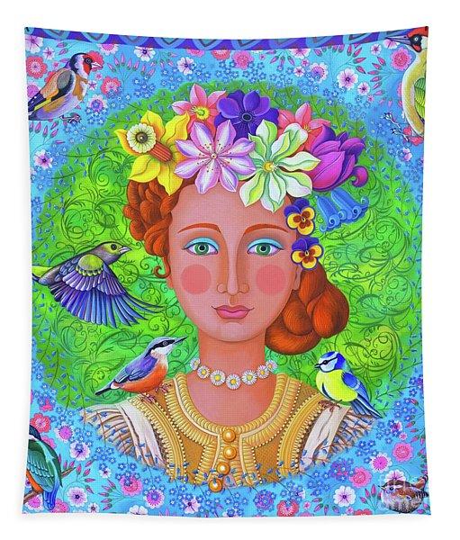 Spring Girl Tapestry