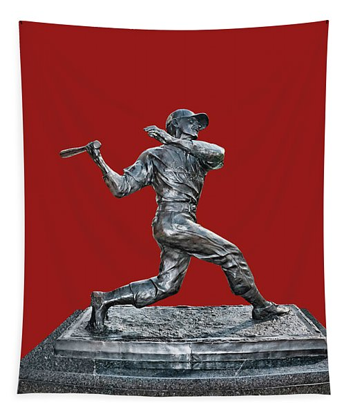 Stan The Man Musial Statue - Busch Stadium Tapestry