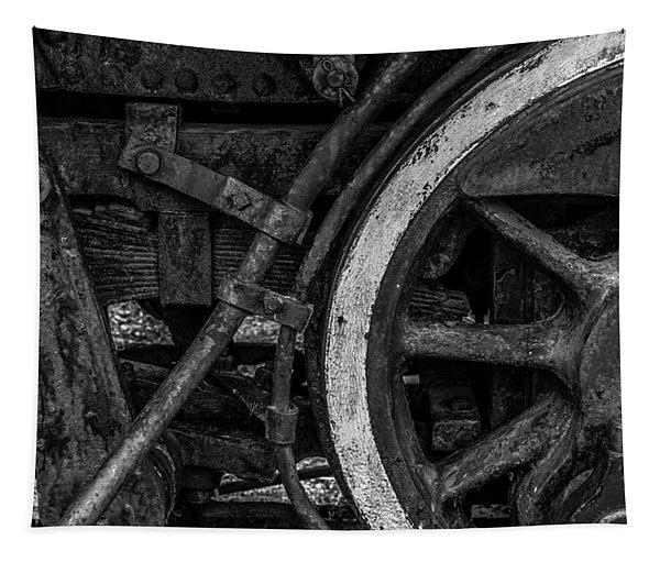 Steel Wheels In Monochrome Tapestry