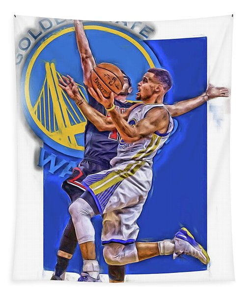 Stephen Curry Golden State Warriors Oil Art Tapestry