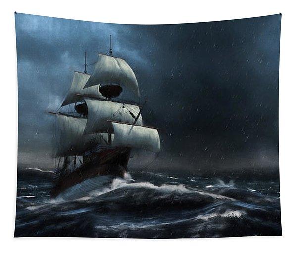 Stormy Seas - Nautical Art Tapestry