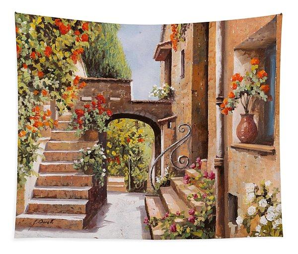 stradina di Cagnes Tapestry