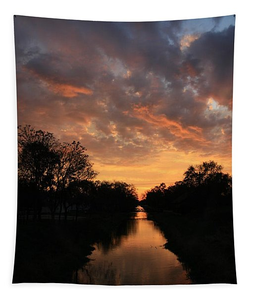 Sunrise On The Illinois Michigan Canal Tapestry
