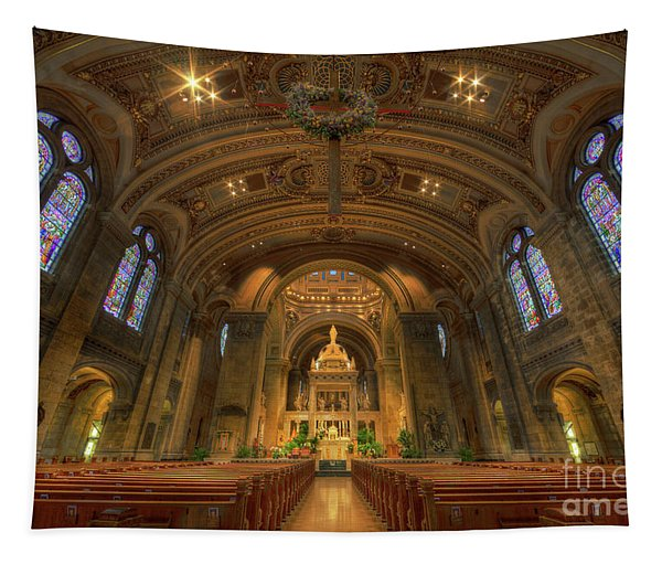 The Basilica Of Saint Mary Minneapolis Interior Tapestry